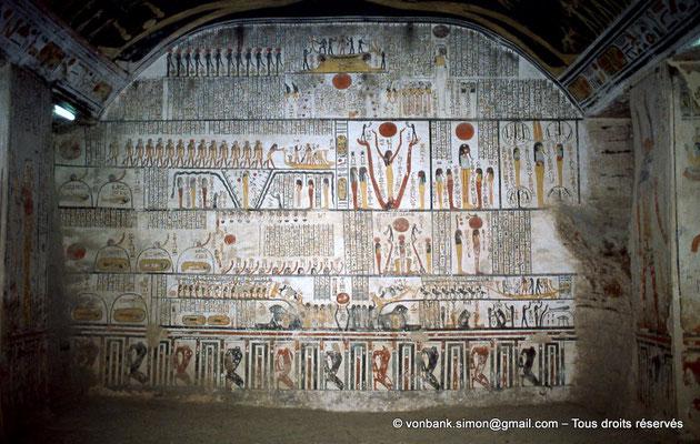 [066-1981-30] KV 9 Ramsès VI : Livre de la Terre (Paroi Sud, chambre funéraire)