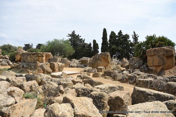 [NU906-2019-1594] Agrigente - Temple de Zeus Olympien : Ruines situées au Nord du temple