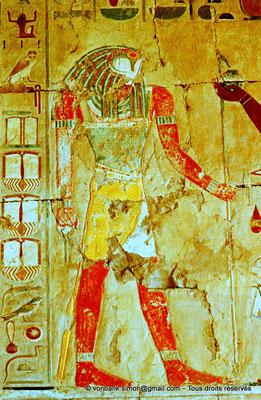 [080-1973-14] Deir el-Bahari : Temple d'Hatchepsout - Sokaris (Chapelle d'Anubis)