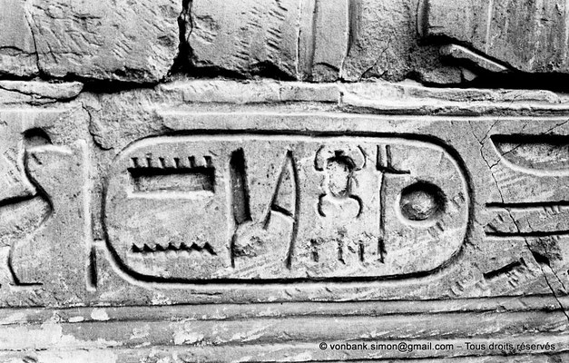 [NB077-1973-36] Karnak - Temple de Séthi II : Cartouche de Séthi II