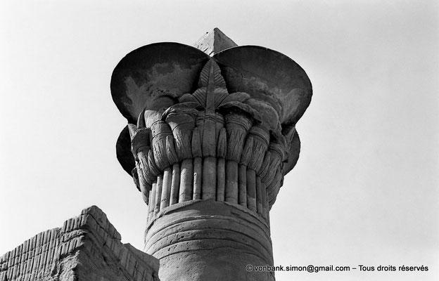 [NB075-1973-46] Karnak - Temple de Ptah : Chapiteau de l'une des 4 colonnes composites du kiosque