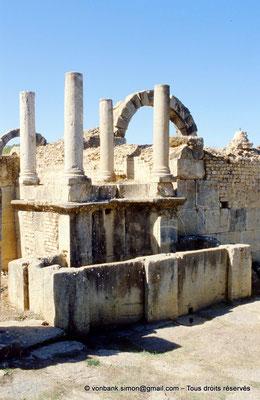 [001-1983-21] Djemila (Cuicul) : Fontaine de la Tétrarchie