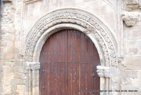 [NU905-2014-0320] Nicosie - Agia Sophia : Portail Sud de la façade occidentale de l'ancienne église Saint-Nicolas (détail des voussures)