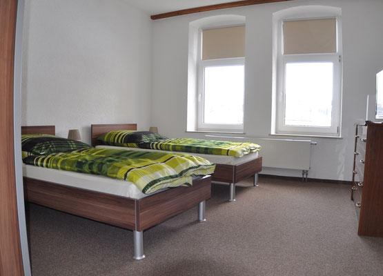 Schlafraum 1 Ferienwohnung Di Pino Aue