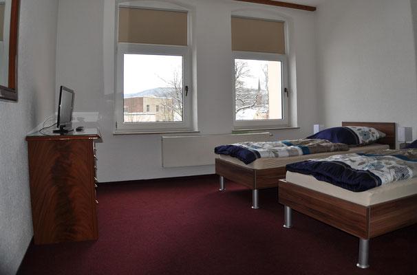Schlafzimmer Ferienwohnung Di Pino Aue