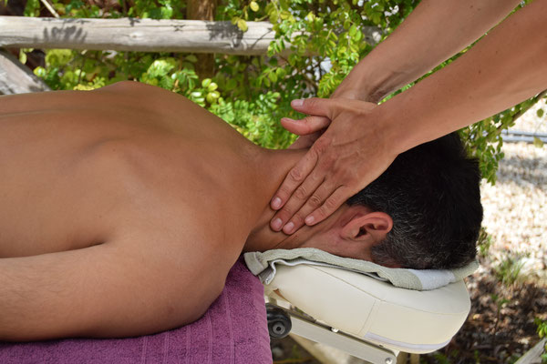 Enjoying a relaxing massage at Onda Vicentina Algarve Portugal