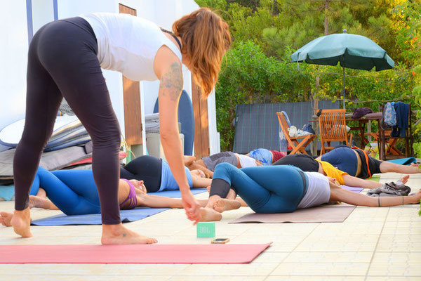 Yoga class at Onda Vicentina bed and breakfast Monte Clerigo Arrifana Portugal