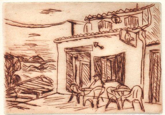 Hartwig, Eberhard, CAFEENTREVENNES, Kaltnadel, Probe I, 11x15 cm / 100