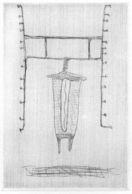 Stöcker, Henry, oT, Kaltnadel 1994, 4-30, 14,8x10,2 cm / 50 Euro