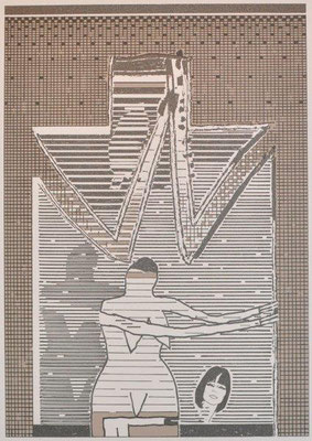 Unbehagen, Niels, Petr-Ade, Farbsiebdruck, 2008, ap, 42x29,5 cm / 100 Euro