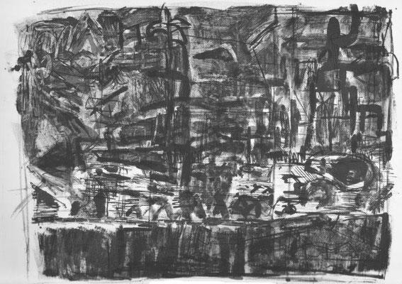 Seidemann, Martin, zu G. Trakl, Lithographie 1989, ea, 27,5x37,5 cm, mit Widmung / 120 Euro