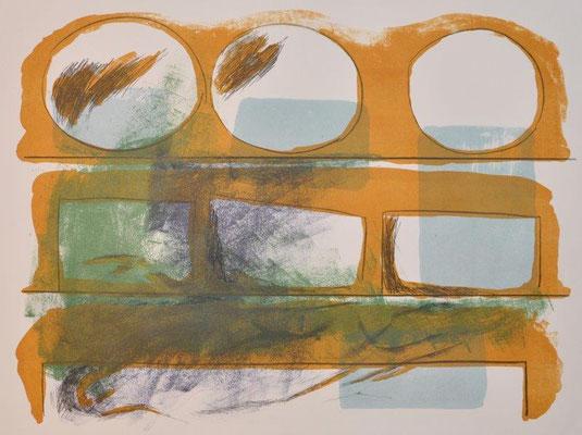 Bernhofer, Carolin, oT, Farblithographie, 2017, 3-4, 35x47 cm / 100 Euro