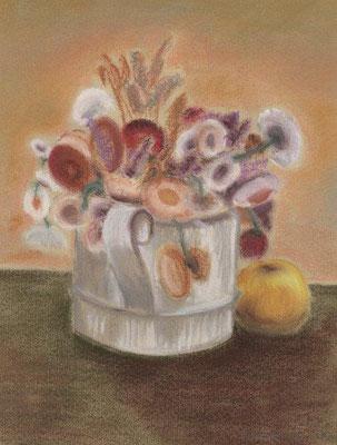 Klünder, Ingelore, Stillleben, Pastell, 1979, 29,0 x 22,0 cm / 50 Euro