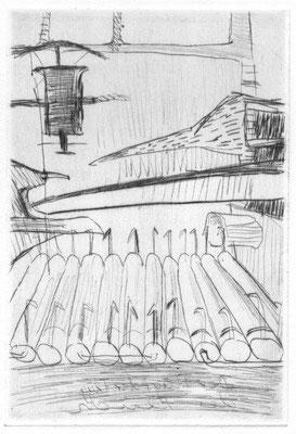 Stöcker, Henry, oT, Kaltnadel 1994, 4-30, 15x10 cm / 50 Euro