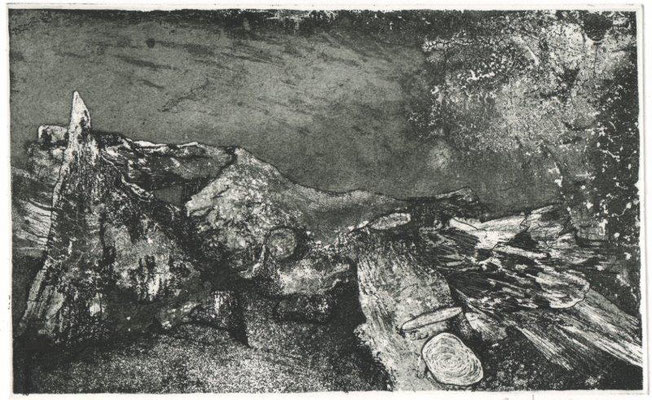 Müller, Helmut, Gestürzt, Radierung-Aquatinta, 2011, 5-10, 14x22 cm / 80 Euro