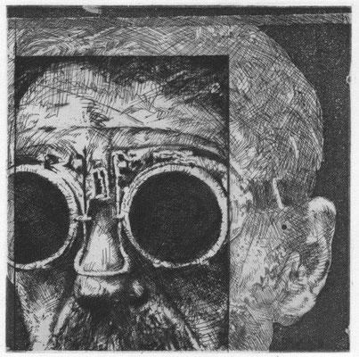 Sorge, Peter, o.T., Radierung 1980, 16,5x17 cm / 40 Euro