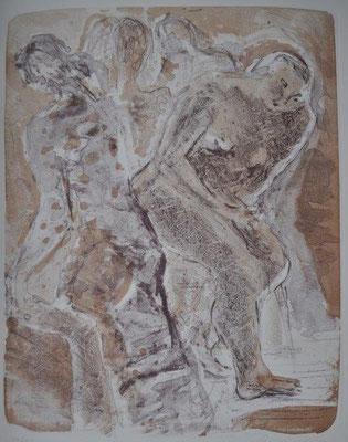 Voß, Marika, o.T., Tanzende, Farblithographie, 2001, 27-30, 47,0 x 36,0 cm / 80 Euro
