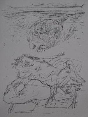 John, Joachim, o.T., Lithographie, 1977, 19-150, 39,0 x 28,5 cm / 60 Euro