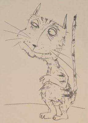 Drewelow, Heike, Katze, Lithographie, 2016, 8-10, 40x30 cm / 120 Euro
