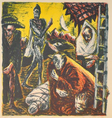 Paris, Ronald, König Lear, Farblithographie, 1985, 177-200, 30x28,5 cm / 100 Euro
