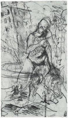 Knauber, Christine, Exkursion, Vernis mou, 1994, 7-20, 16x27,3 cm / 90 Euro