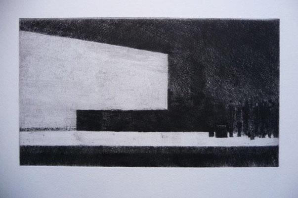 Otto, Michael, Der Bahnhof Zoologischer Garten, 1982(2013), Kaltnadel, 144x250 / 180 Euro