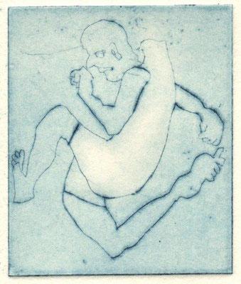 Molter, Hannah, Hopp, Kaltnadel, 2015, 7x6 cm / 20 Euro