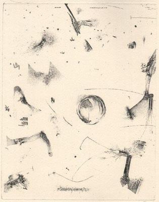 Ranft, Thomas, Für Ernst Jandl hier und dort, Radierung, 1984, 177-200, 25x20 cm / 80