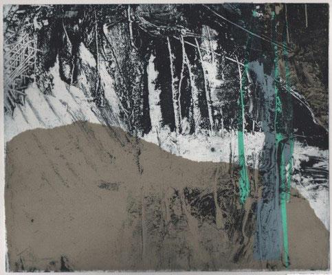 Tiefensee, Karin, Grauzone III, Tiefdruck-Collage, 2017, Unikat, 25x30 cm / 250 Euro