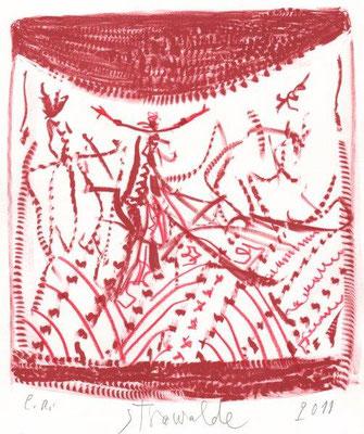 Stöcker, Henry, oT, Kaltnadel 1994, 4-30, 14,8x10,2 cm / 150 Euro