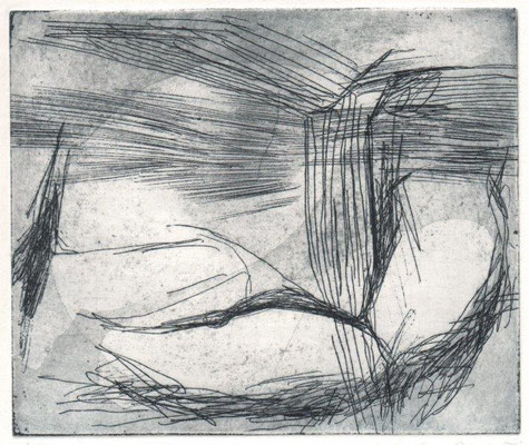 Bernhofer, Carolin, oT, Radierung, 2015, 1-3, 9,5x11,5 cm / 30 Euro