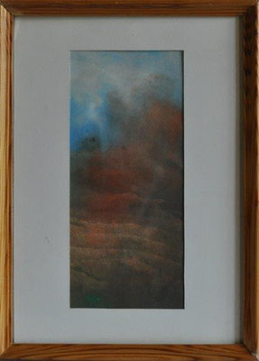 Gerig, Renate, o.T., Phantastische Landschaft, Aquarell, o.J., 23,0 x 10,0 cm / 40 Euro
