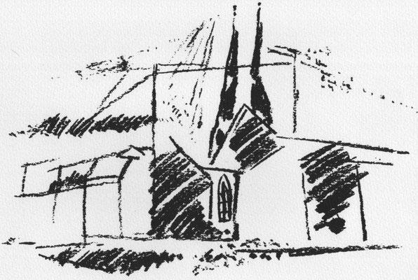 Gericke, Lothar, o.T., Offsetlithographie, 1986, 18,5x28 cm / 40 Euro