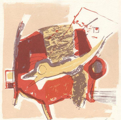Warme, Helge, Kleines Kanapee, Farbsiebdruck, 2010, 98-100, 19,0 x 19,0 cm / 80 Euro