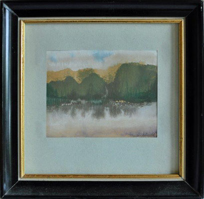 Klünder, Ingelore, o.T., Seeufer, Aquarell, o.J., 7,5 x 9,5 cm / 30 Euro