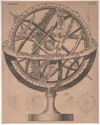 Astronomie, Kupferstich, o.J / 80 Euro