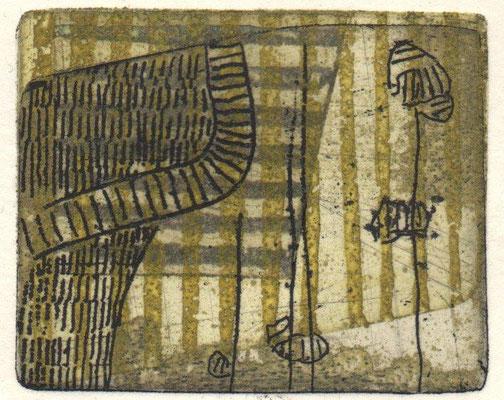 Bothe, Georg, TR LVII, Radierung-Aqiatinta-Reservage, 2017, 10-36, 4,5x5,5 cm / 30 Euro