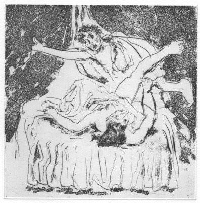 140. Metzkes, Harald, Potifars Weib, Aquatinta-Radierung 2007, 4-30, 15,0 x 14,9 cm / 80