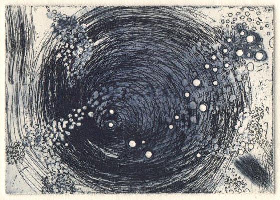 Eberle, Dagmar, Galaxis, Radierung-Aquatinta-Prägung, 7x10 cm / 20 Euro