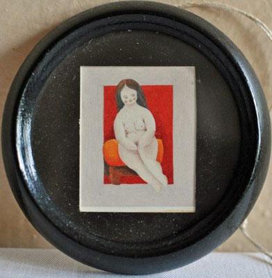 Unbekannt, o.T., Akt, Tempera, o.J., 4,0 x 2,5 cm / 20 Euro