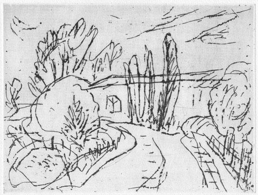 Meiser, Monika, Uckermark, Radierung, 1990, 5-10, 18,5 x 25,0 cm / 80 Euro
