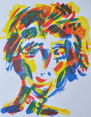 Schlangenbader, Peter, Muse, Farbsiebdruck, 2017, ea, 59x42 cm / 180 Euro