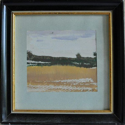 Klünder, Ingelore, o.T., Landschaft, Aquarell, o.J., 9,0 x 10,0 cm / 30 Euro