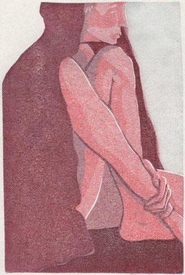 Weydemann, Peter, Kleine Sommerfolge, Blatt 6, Farblinoldruck, 1994, Variation 4-15, 23,0 x 15,0 cm, WV N 227 / 160 Euro