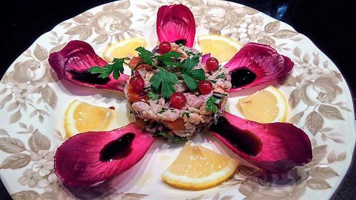 Tartare de thon, Chef à domicile, chef à la maison, chef à domicile Grasse, Cours de cuisine à domicile, cours de cuisine Grasse, Chef Tristan Pontoizeau