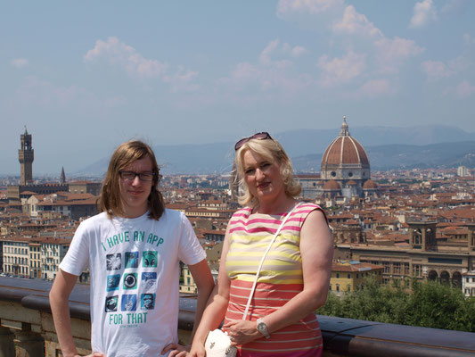 Thomas mit meiner Frau Margit in Florenz, 2013