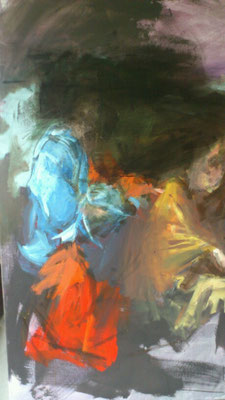 Versuchung Christi, Acryl | 120 x 80 cm | 2015