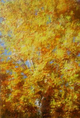 """Sonnenreflex"", Acryl, 13x18cm, 2017"