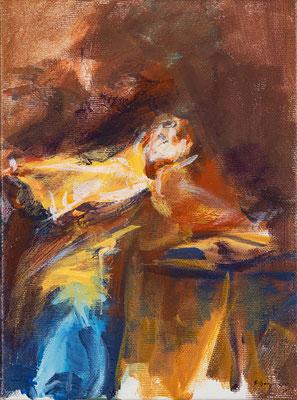 Augustinus, Acryl  24 x 18 cm  2019