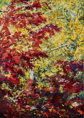 Oktoberblätter IV, Acryl, 150x100 cm, 2017/19/20